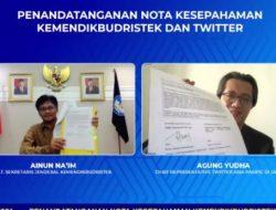 Kemendikbudristek –  Twitter Tandatangani MoU Literasi Media Sosial Pelajar SMP