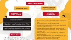 Lomba Jurnalistik Itera Diperpanjang Sampai 10 Oktober 2021